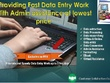 Do and manage your data entry Projects in 3 hours