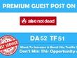 Write a blog on alivenotdead.com (DA 52, PA 51 PR 5) Dofollow