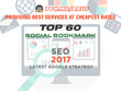 Manually Create 60 Pr10 Social Bookmarks Backlinks