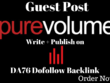 Publish a Guest post on purevolume DA76 with Dofollow Backlink