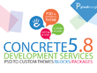 Concrete5 CMS development from psd or ai design