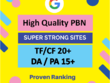 5 Powerful TF 20+ PBN Backlinks with Unique Content
