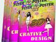 Flyer design, poster, brochure, leaflet