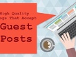 Provide 10 unique guest posts from DA > 50 websites