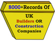 Make for you 8000 plus record UK Builder CONTACT/EMAIL List