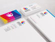 Design Eye Catching Stationery Design with Business Card, Letter