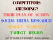 Dig out yours competitors plans, analysis, data, details