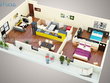 Create a high quality and detailed 3D floor plan rendering