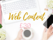 Write your web page content up to 3 pages