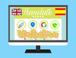Translate websites from English to Spanish (up to 10000 Words)