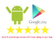 Provide 30 android app review with 5 star rating on  your app
