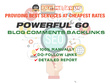 Powerful 60 Blog Comments Backlinks On Pr3 Pr7 Pages