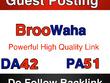Publish a guest post on Broowaha DA 42  PA 51  –  Broowaha.com