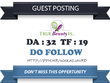 Publish Do Follow Guest Post on Health and Beauty Blog - DA 32