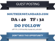 Publish Do Follow Guest Post on Southernstandard.com DA 40 TF 32