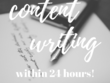 Write 500 words of original content - SEO optimised