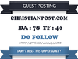 Publish Do Follow Guest Post On Christianpost.com DA 78