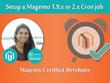Setup a Magento 1.9.x or 2.x Cron job