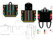 Design a CAD Flat Technical Drawing of Bags/Accessories