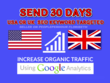SEND 30 DAYS USA OR UK  SEO KEYWORD TARGETED
