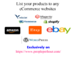 Do data entry for products uploading