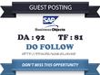 Publish Do Follow Guest Post on blogs.sap.com DA 92 TF 81