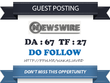 Write & publish Do Follow Guest Post On Newswire.net – DA 67
