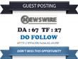 Write & publish Do Follow Guest Post On Newswire.net – DA 67