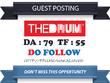 Write & publish a guest post on Thedrum.com DA 79