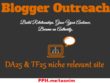 Blogger outreach & find a TF25+ relevant website guest post