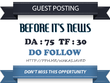 Publish Do Follow Guest Post On Beforeitsnews.com - DA 75