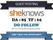 Publish Guest Post on Sheknows.com DA 85 TF 62 Dofollow