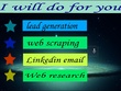 Do Lead generation on Linkedin, Email list building