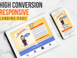 Create Jaw dropping Responsive Landing Page (PC+Tablet+Mobile)
