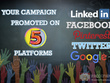 Share your crowdfunding campaign -Twitter and Facebook 320 times