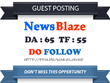 Write & publish Do Follow Guest Post On NewsBlaze.com - DA65