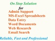Deliver 2 Hrs of VA/Admin/Data Entry/Word/Excel/Document typing