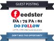 Publish Guest post on Feedster - Feedster.com DA75 Dofollow
