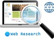 Do 3 hours of Internet/ web based research at only €21