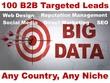 100 Leads B2B Targeted Fresh UK USA CANADA Direct Marketing