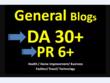 Guest Post On DA30 HQ General Blog