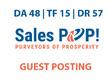Publish a guest post on SalesPOP Blog - DA48, TF15, DR57