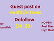 Guest Post On 5  Health/Fitness Sites With Do Follow