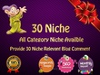 Create 30 HQ Niche relevant SEO Blog comments on Authority Sites