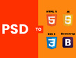 Convert PSD to HTML with responsive design [3 to 4 pages]