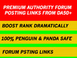 PREMIUM 5 Authority Forum Posting Links from DA50+ to Boost Rank