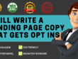 I Will Write Attention Grabbing Content For Your Landing Page