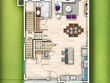 Render 2D colour architectural plan from your sketch/dwg