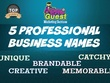 Craft business name, company name,brand name,brand identity