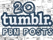 Do 20 manual high quality Tumblr PBN blog posts SEO backlinks